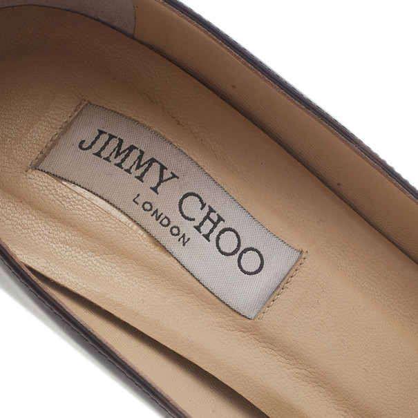 Jimmy Choo Tortoise Patent Gilbert Pumps Size 39