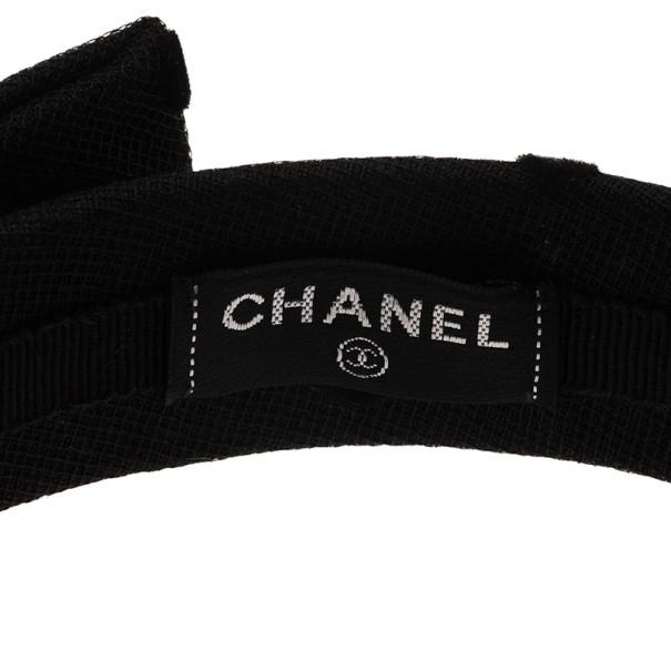 Chanel CC Black Bow Headband