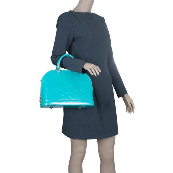 Louis Vuitton Blue Lagoon Monogram Vernis Alma PM
