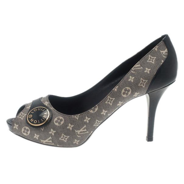 Louis Vuitton Monogram Idylle Judy Peep Toe Pumps Size 37