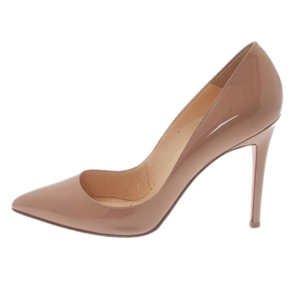 Christian Louboutin Nude Patent Pigalle Pumps Size 36.5