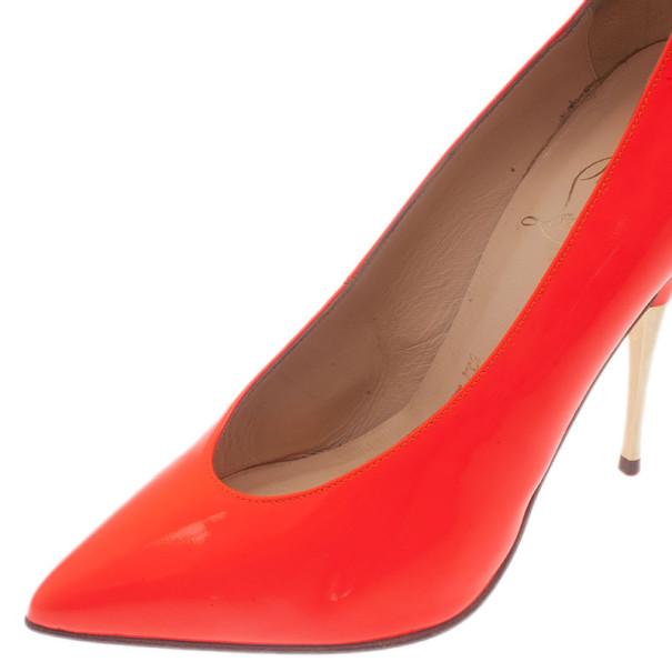 Christian Louboutin Orange Patent Lola Pumps Size 36.5