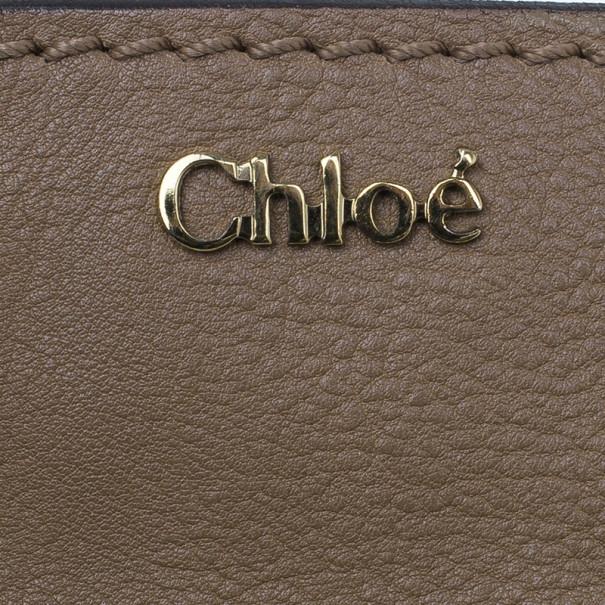 Chloe Beige Leather Elsie Satchel