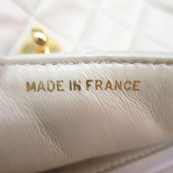 Chanel Beige Lambskin Matelasse Chain Shoulder Bag