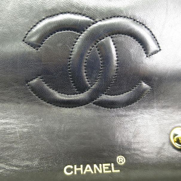 Chanel Black Lambskin Single Flap Chain Shoulder Bag