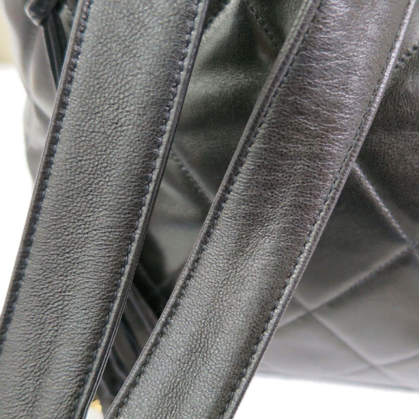 Chanel Black Quilted Lambskin Backpack