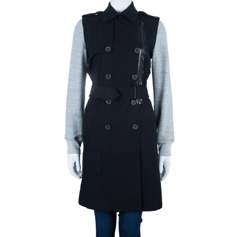 Alexander Wang Fleece Sleeve Long Coat M