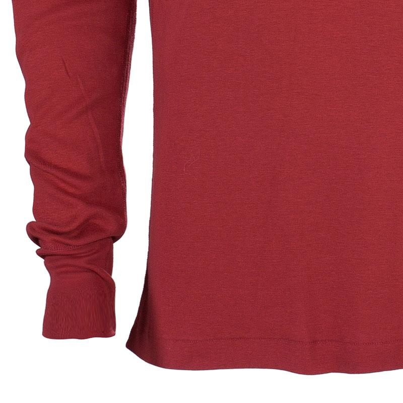 Burberry Men's Long Sleeve Novacheck Elbow-patch T-Shirt L