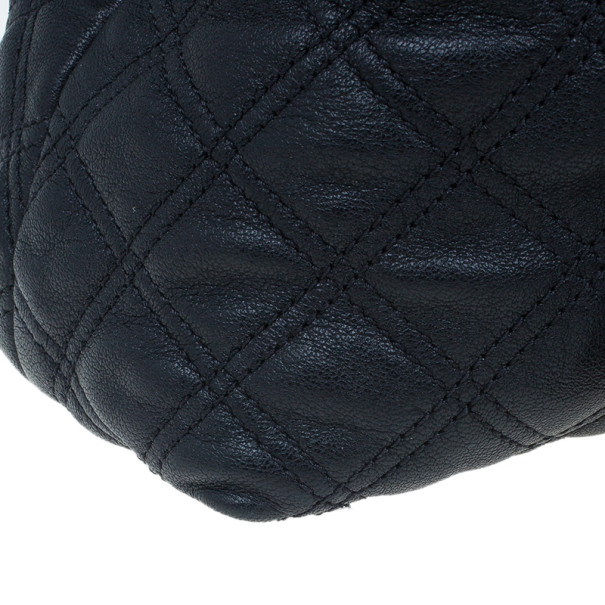 Marc Jacobs Black Quilted Leather Bruna Tote