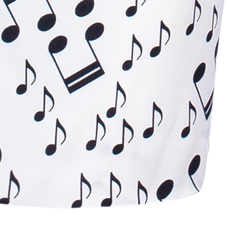 Dolce And Gabbana Strapless Musical Note Print Dress S