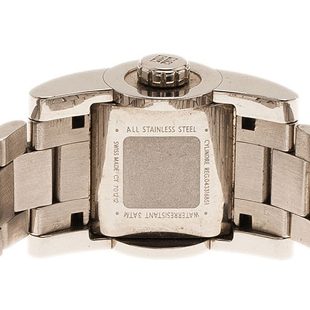 Givenchy Silver Stainless Steel Cylinder Women's Wristwatch 22MM