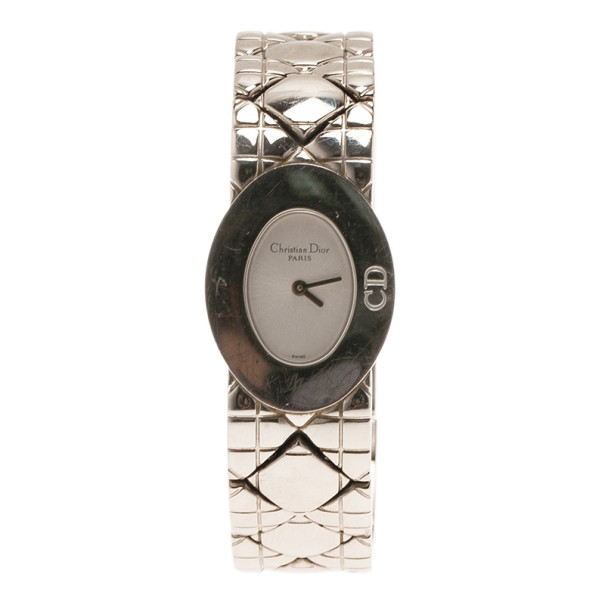 Dior Silver Stainless Steel Lady Dior D90-100 Women's Wristwatch 21MM