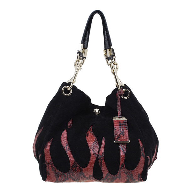 Jimmy Choo Black Suede Bucket Bag