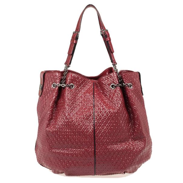 Burgundy Patent Leather Tote Bag Nextprev Prevnext
