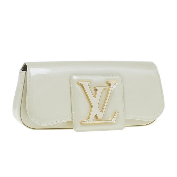 Louis Vuitton White Vernis Sobe Clutch