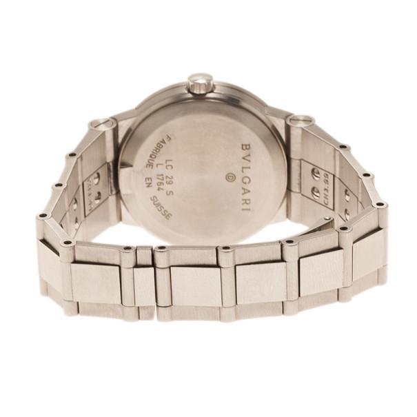 Bvlgari Black Stainless Steel LC 29 S Women's Wristwatch 29MM