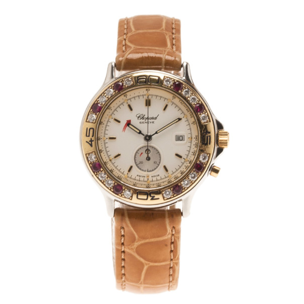 Chopard White Stainless Steel Classic Women's Wristwatch 28MM