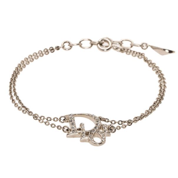 Dior Oblique Crystal Bracelet 21CM