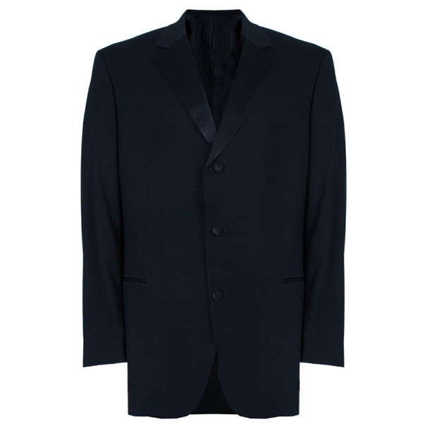 Boss by Hugo Boss Smoking Black Men's Blazer XXL