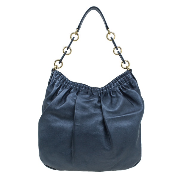 Marc by Marc Jacobs Black Nappa Leather Hobo