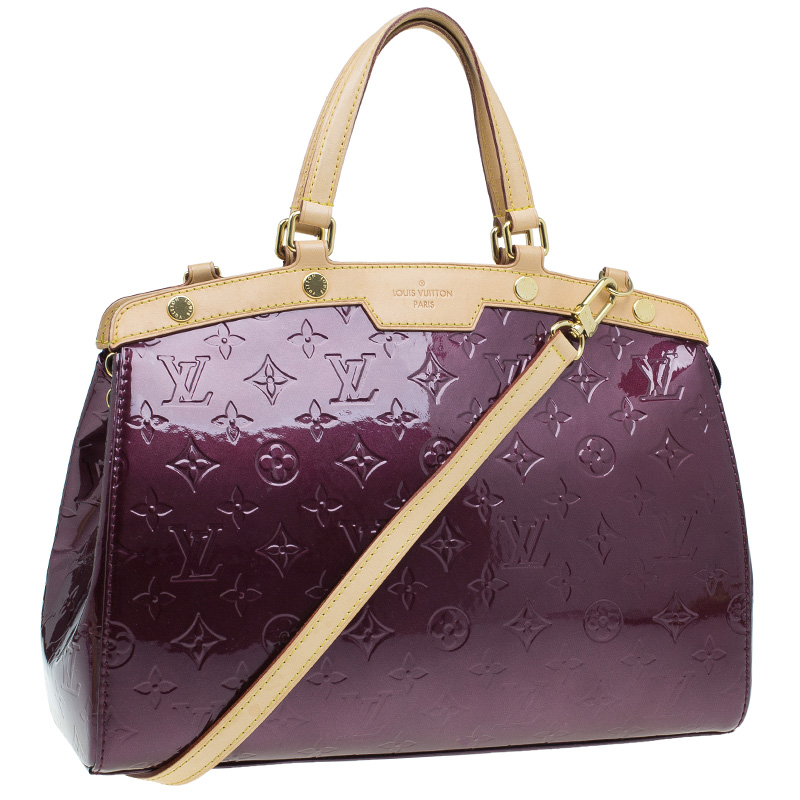 Louis Vuitton Amarante Monogram Vernis Brea MM