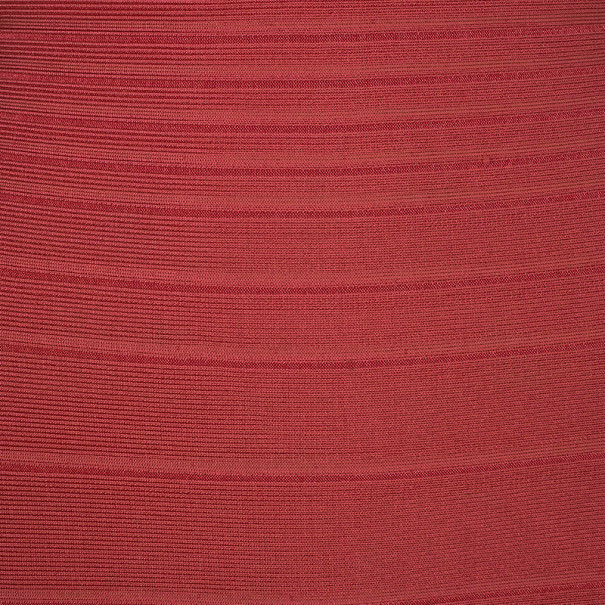 Herve Leger Red Off-Shoulder Bandage Dress XS