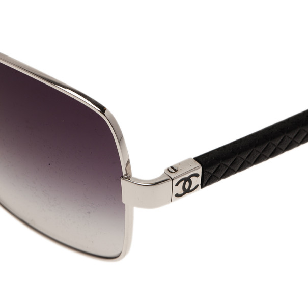 Chanel Silver 4196 Rectangle Sunglasses