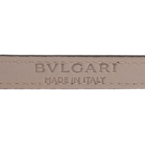 Bvlgari Serpenti Double Coiled Purple Leather Bracelet M