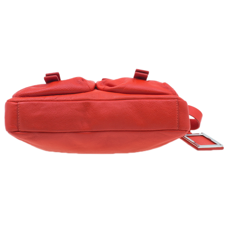 Marc by Marc Jacobs Red Leather Werdie Camera Crossbody Bag