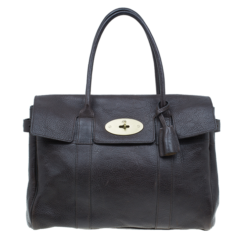 Mulberry Chocolate Brown Leather Bayswater Satchel Bag