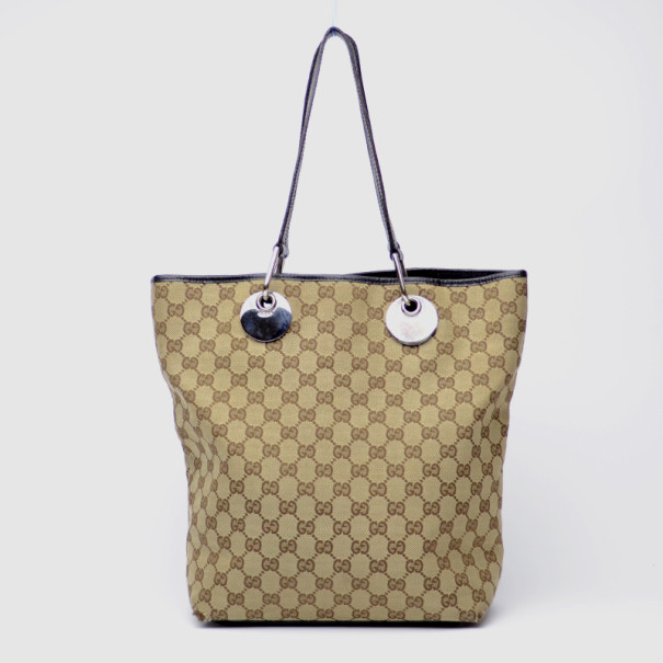 9607ceeb12a Lyst Gucci Bree Original Gg Canvas Tote In Natural
