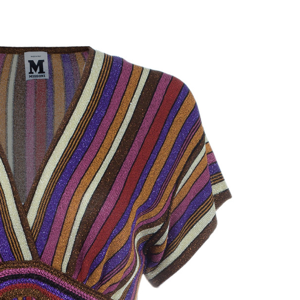M Missoni Multicolor Stripe Print Top M