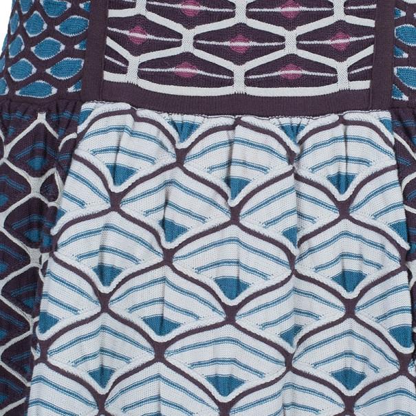 M Missoni Patterned Knit A-Line Dress M