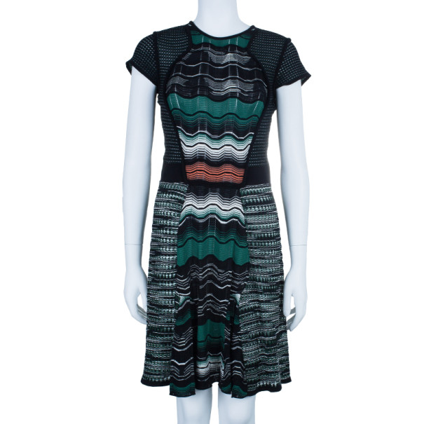 M Missoni Wave Print Multicolor Dress M