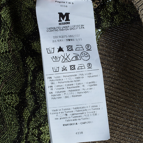 M Missoni Button Down Knit Patterned Cardigan M