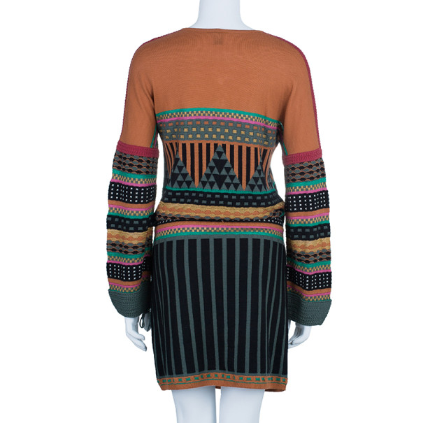 M Missoni Patterned Button Front Dress M