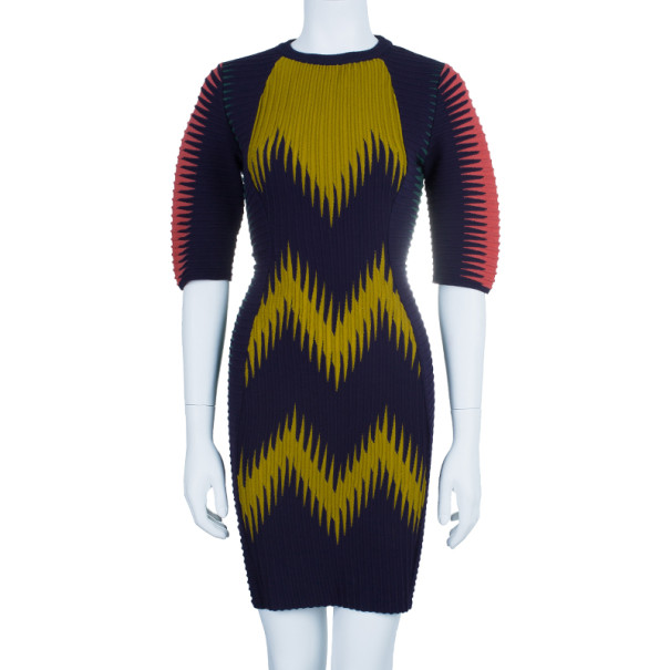 M Missoni Multicolor Patterned Body-Con Cocktail Dress M
