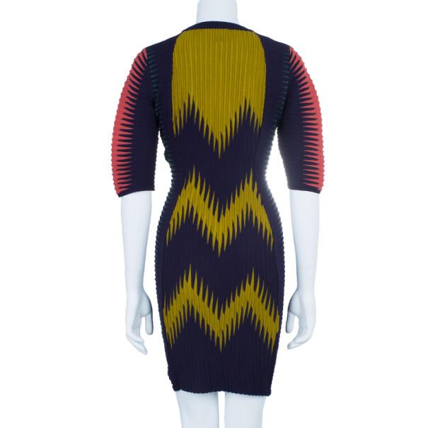 M Missoni Multicolor Patterned Body-Con Cocktail Dress M