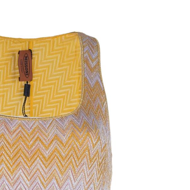 Missoni Orange Knit Maxi Dress M