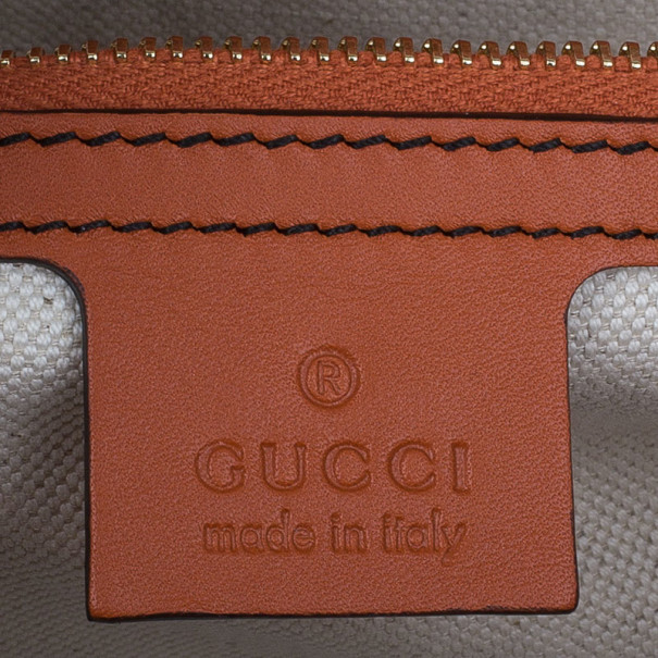 Gucci Orange Guccissima Leather Large Emily Chain Shoulder Bag