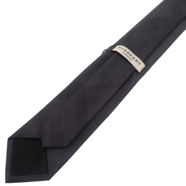 Burberry Black Silk Tie