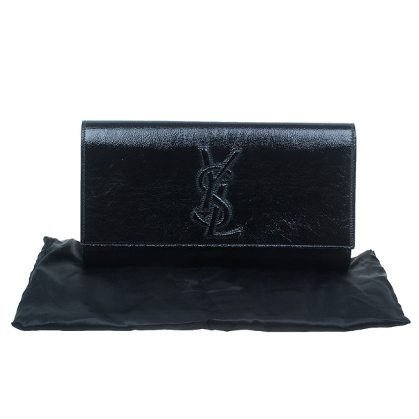 Saint Laurent Paris Black Leather Belle De Jour Flap Clutch
