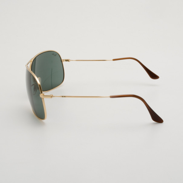 gold rimmed ray bans  Ray-Ban Gold Rimmed RB 3267 69 Aviators - Buy \u0026 Sell - LC