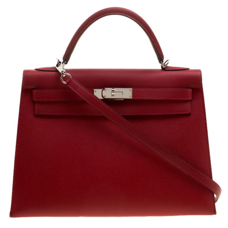 uk authentic hermes kelly 32cm bag rouge garance epsom 59c7e 836c1 df0c149773dda