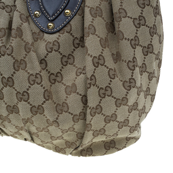 Gucci GG Canvas Medium Pelham Studded Hobo