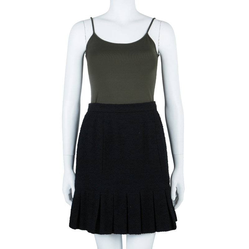 Chanel Black Pleated Skirt M
