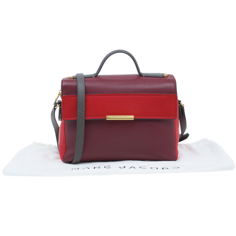 Marc by Marc Jacobs Cabernet Red Leather Diana Satchel