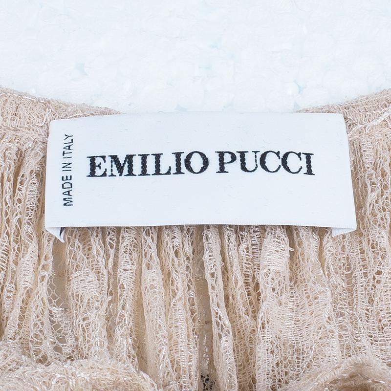 Emilio Pucci Nude Lace Top M