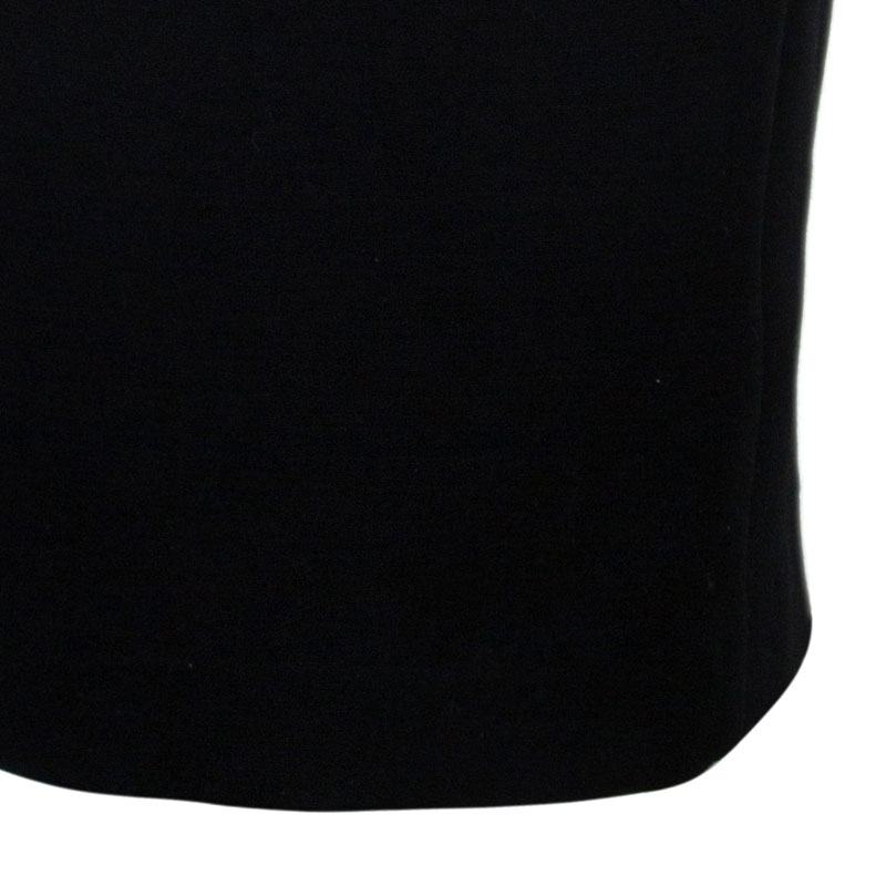 Balmain Black One Shoulder Fitted Dress L