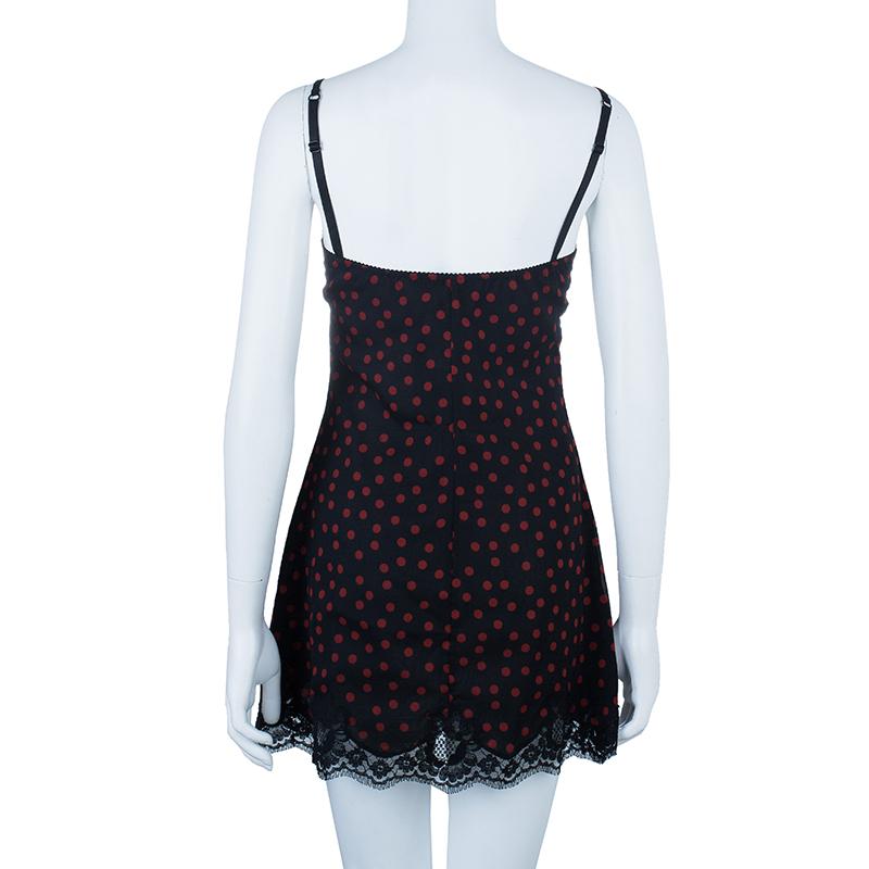 Dolce And Gabbana Polka Dot Lace Dress M